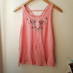 Tops - Blush Pink Summer Strappy Blouse